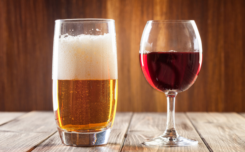 beer and wine for example
