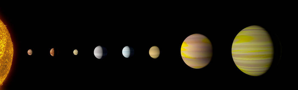 eight planets circling Kepler-90 a Sun-like star